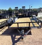 16X83 TNDM AXLE TRAILER/W RAMP GATE