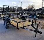 5X8 UTILITY TRAILER W/PIPE TOP RAIL